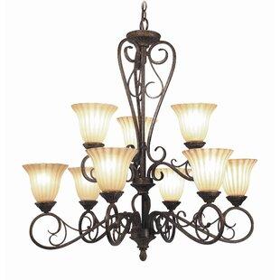 Woodbridge Lighting Avondale 9-Light Shaded Chandelier