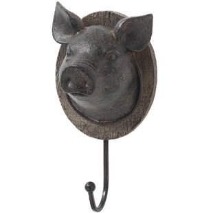 Pigs Head Wall Mounted Coat Rack By Brambly Cottage