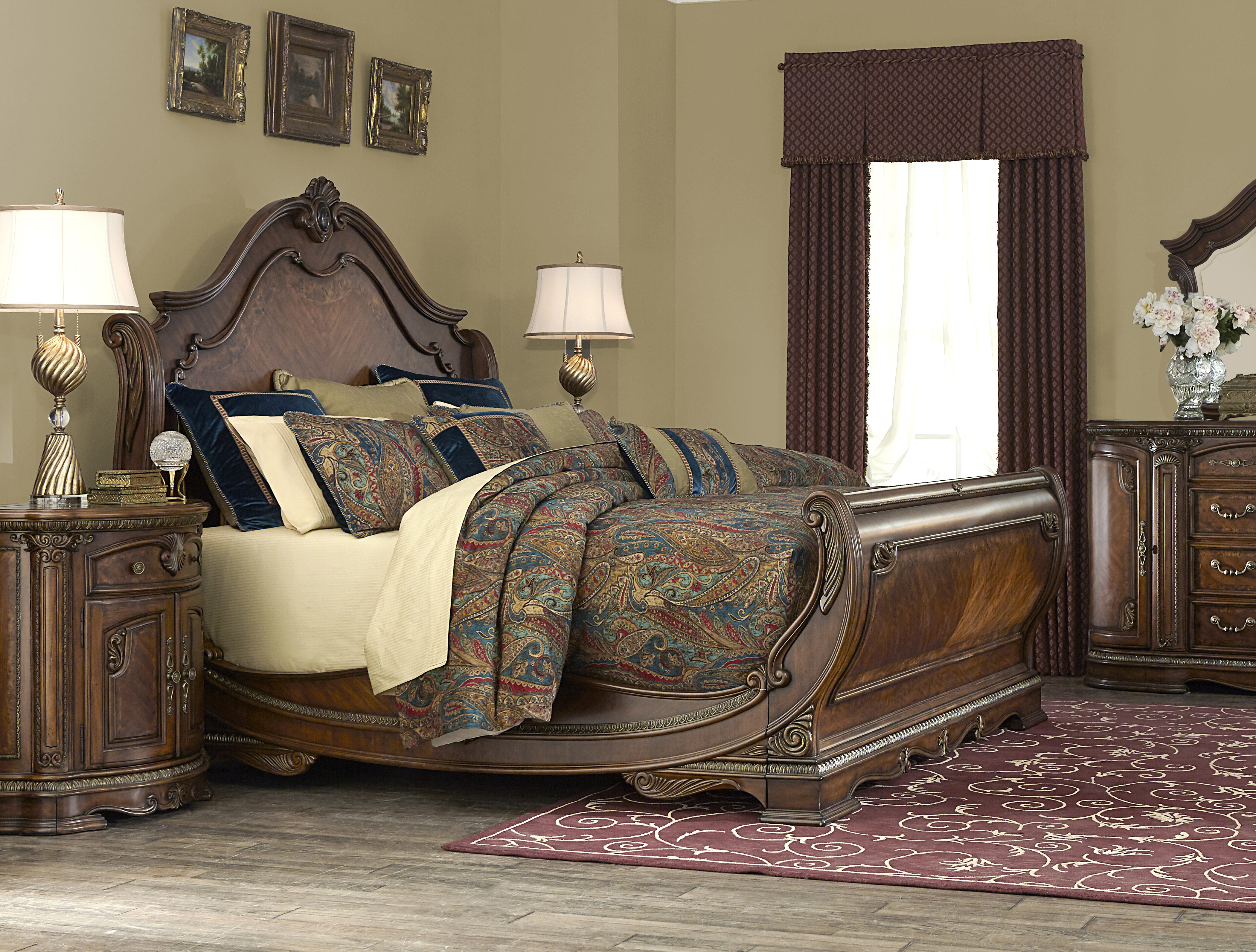 trim sleigh threshold queen hooker width furniture with products archivistqueen height bed archivist beds item toffee