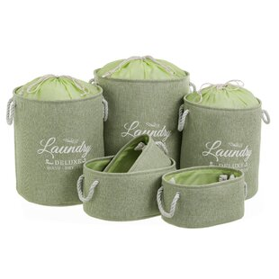 Laundry Bin Set (Set Of 6) By August Grove