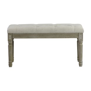 Whitt Christies French Upholstered Bench by Ophelia & Co.