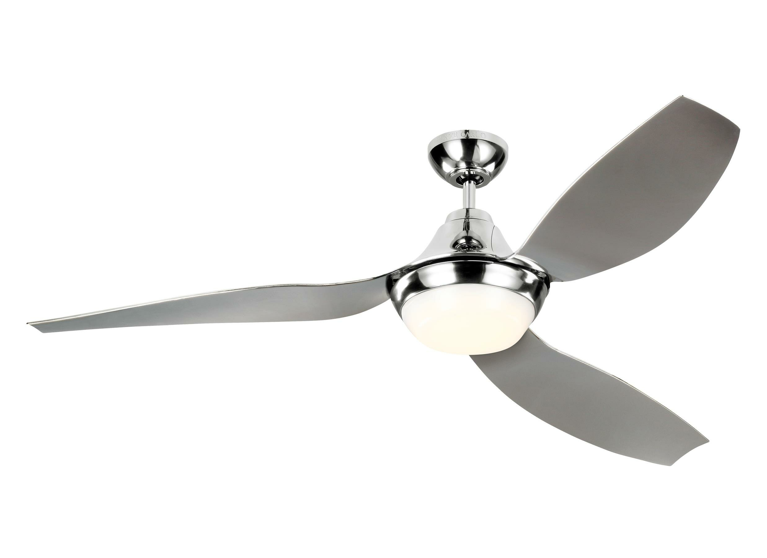 Monte Carlo Fan Company 56 3 Blade Led Propeller Ceiling Fan With Light Kit Included Perigold
