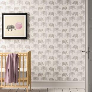 Janiyah Elephant Parade 5 5m L X 52cm W Animals Roll Wallpaper