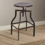 Lawhorn Swivel Adjustable Height Bar Stool by Williston Forge
