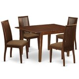 Lage 5 Piece Extendable Solid Wood Dining Set by Winston Porter
