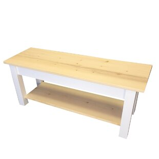 Jarrard Wood Bench with Shelf