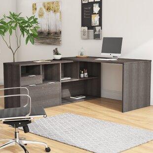 Brayden Studio Prattsburgh Reversible L-Shape Executive Desk