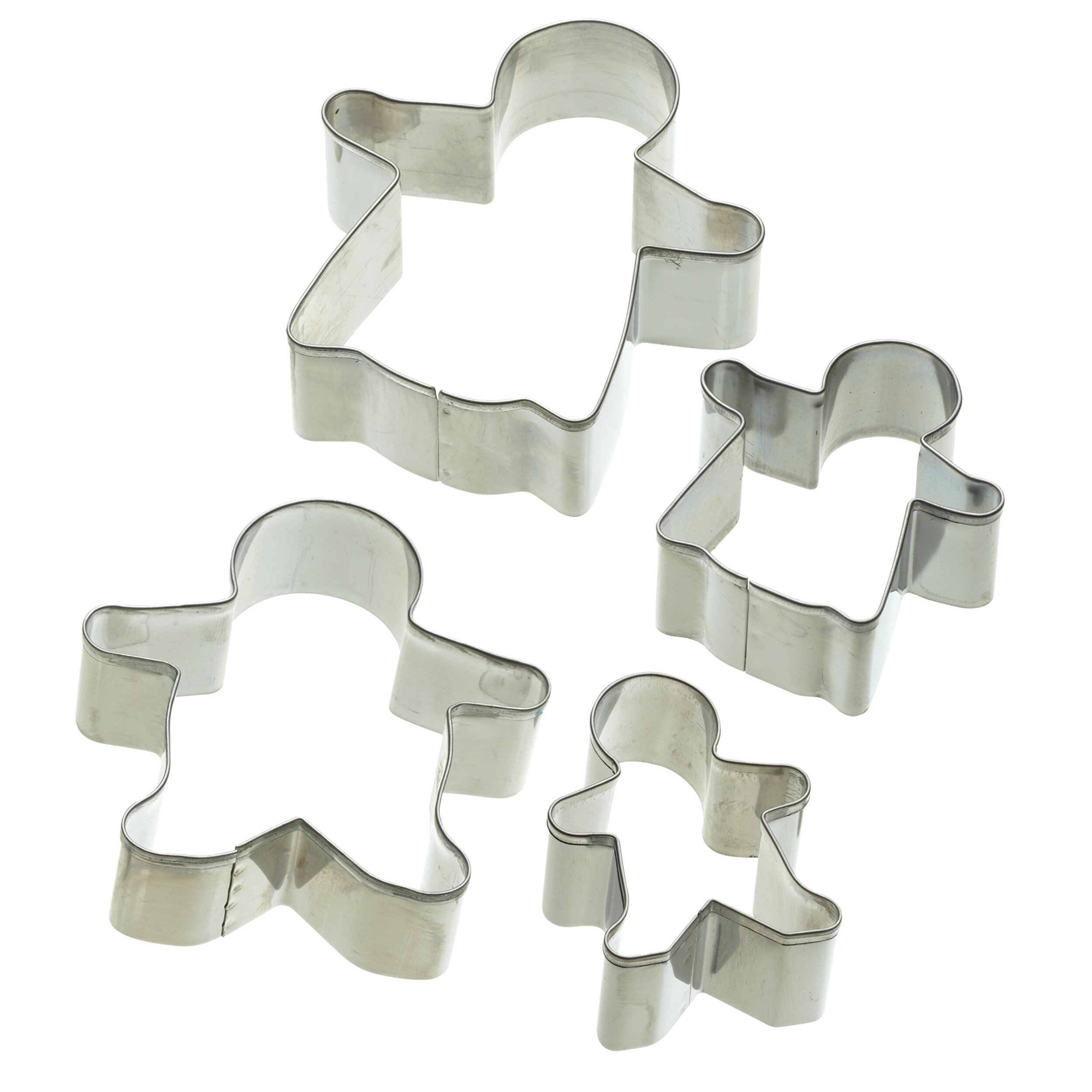 KitchenCraft Assorted Size Pastry Children Safe 5x Star Cookie Cutters