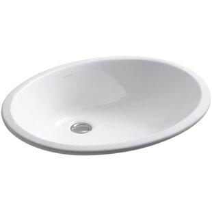 Kohler Caxton Ceramic Oval Undermount Bathroom Sink