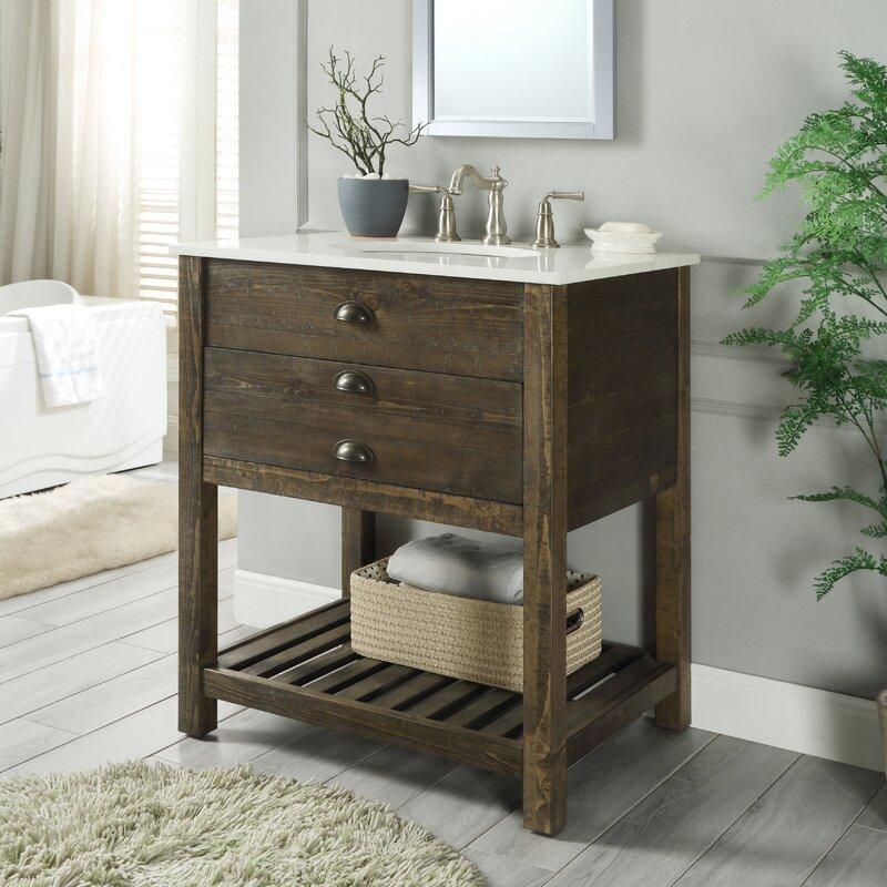 "Ladwig 1 Drawer 30"" Single Bathroom Vanity"