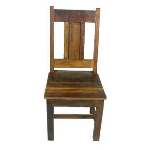 Sheehan Solid Wood Dining Chair Loon Peak
