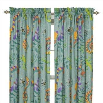 Little Lizard Rod Pocket Curtain Panels
