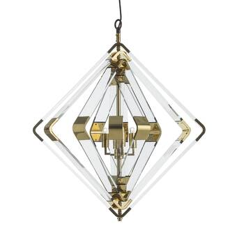 Ellahome Ephesus 6 Light Candle Style Rectangle Chandelier With Wrought Iron Accents Perigold