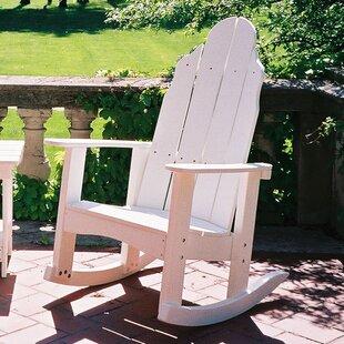 Traditional Plastic Rocking Adirondack Chair