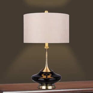 Bilertine Metal and Glass 26.5 Table Lamp