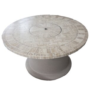 BayPointe Outdoors Designer Series Stone Propane Fire Pit Table