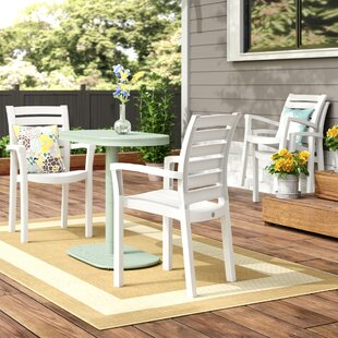 Stacking Patio Dining Chair (Set of 4) by Symple Stuff