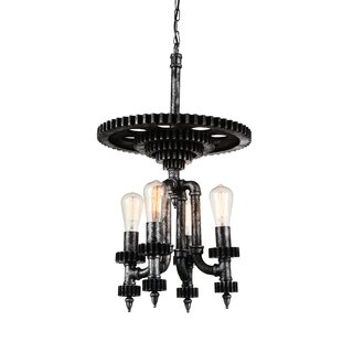 CWI Lighting Soto 4-Light Novelty Chandelier