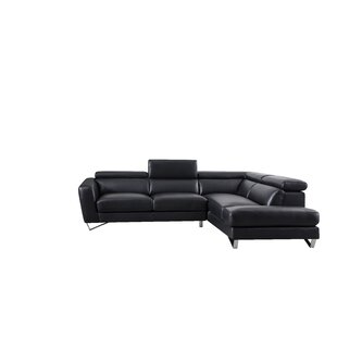 Brayson Leather Sectional by Orren Ellis Top Reviews