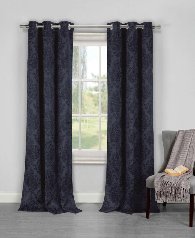 eugenie damask room darkening curtain panels