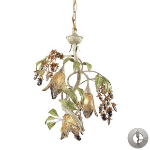Evelyne 3-Light Shaded Chandelier by Beachcrest Home