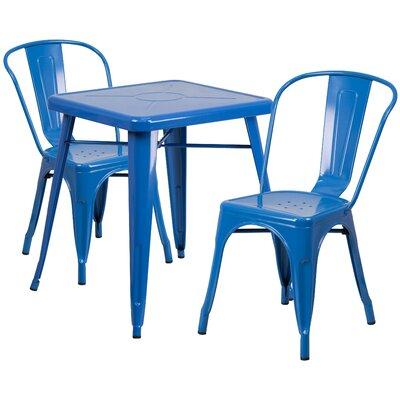 Fantastic Hashtag Home Karlson 3 Piece Bistro Set Finish Blue Ibusinesslaw Wood Chair Design Ideas Ibusinesslaworg