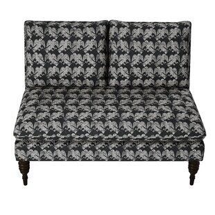 Check Prices Trace Block Ink Armless Loveseat by World Menagerie Reviews (2019) & Buyer's Guide