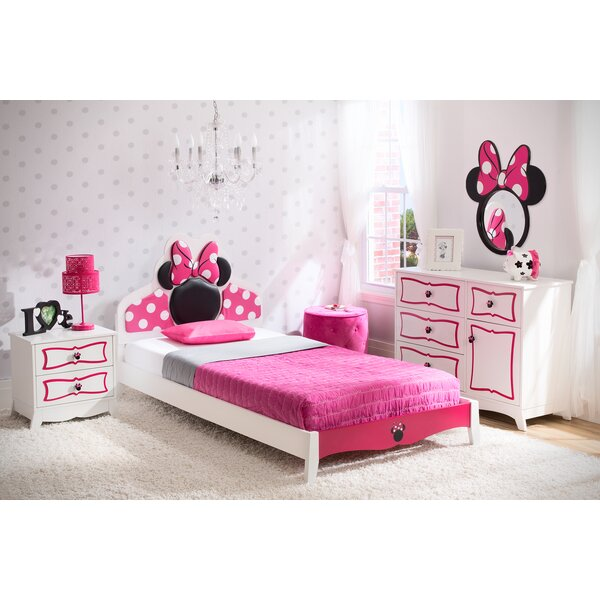 delta children disney minnie mouse panel 4 piece bedroom set
