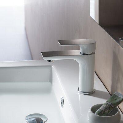 Blossom Single Hole Bathroom Faucet  Finish: White/Chrome