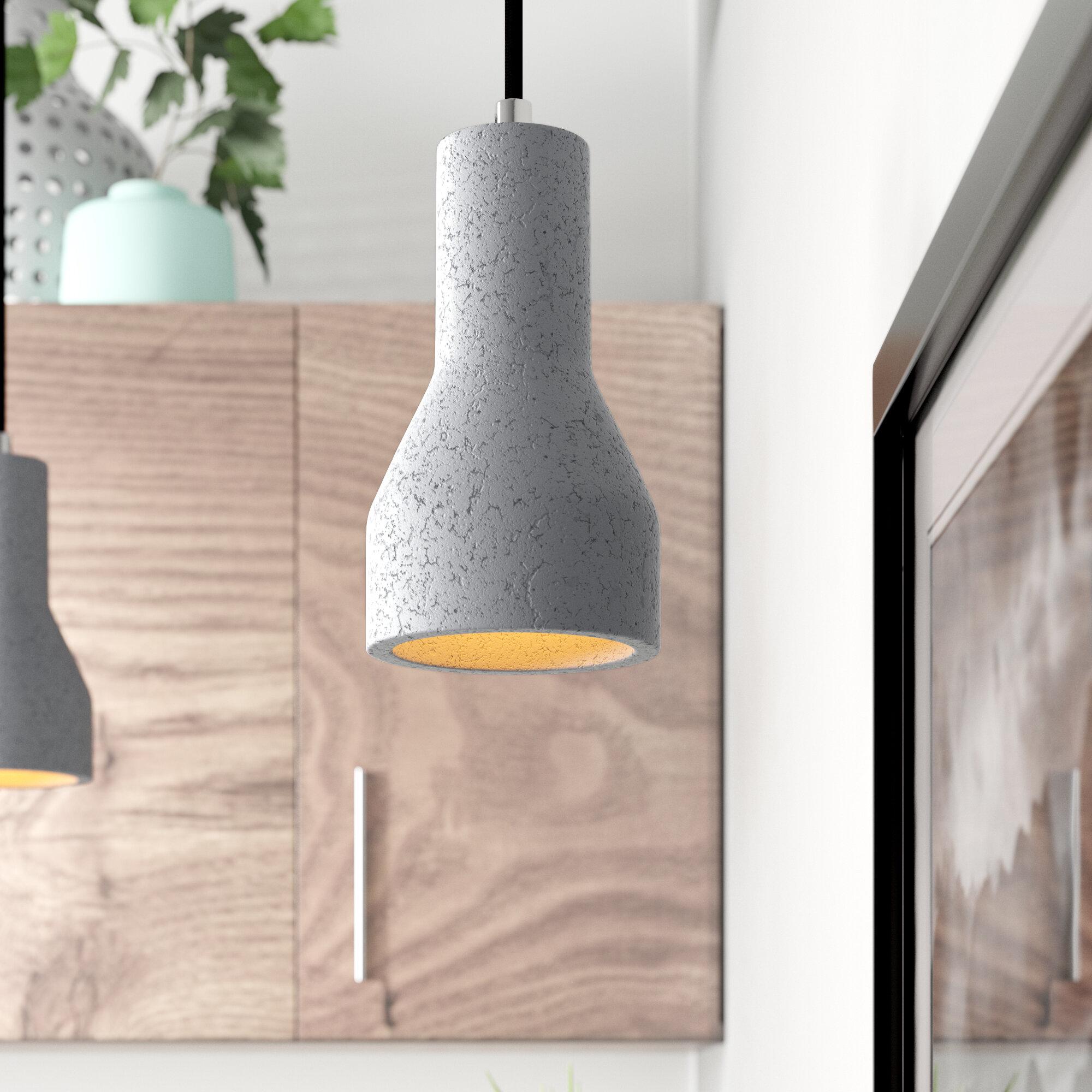 Giselle 1 Light Single Bell Concrete Pendant Reviews Allmodern