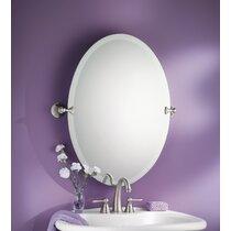 Brushed Nickel Mirror Bathroom Wayfair