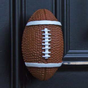 Handpainted Football Oval Knob (Set of 10)