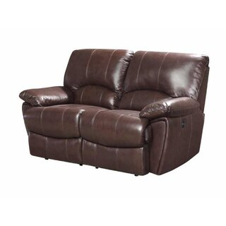Alicea Leather Reclining Loveseat by Canora Grey SKU:DC450086 Information