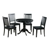 Erica 5 Piece Solid Wood Dining Set by Alcott Hill®