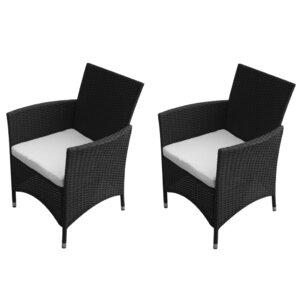2-tlg. Gartenstuhl-Set mit Polster von Home Etc