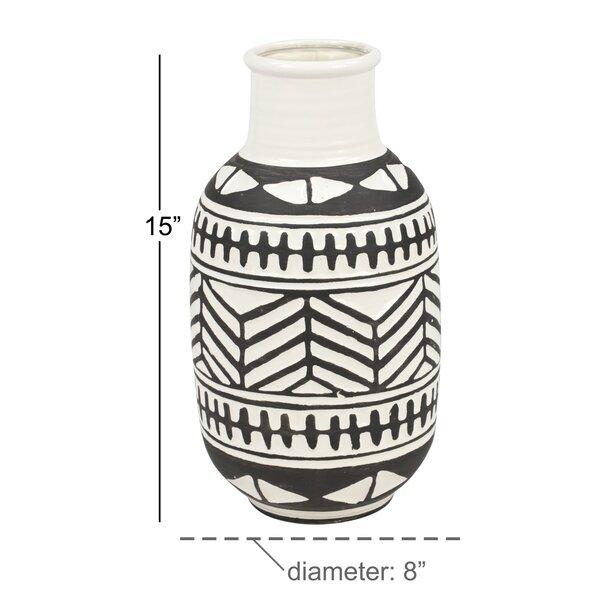 Union Rustic Dickson Waterproof Ceramic Table Vase Wayfair