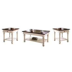 Dortch 3 Piece Coffee Table Set