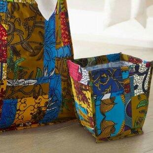 VivaTerra African Patchwork Laundry Hamper