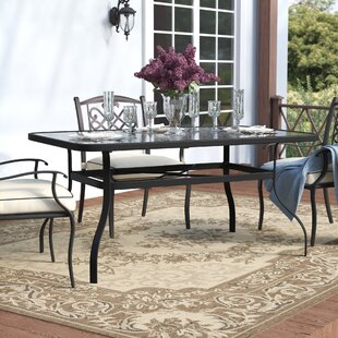 Hymel Glass Dining Table by Winston Porter