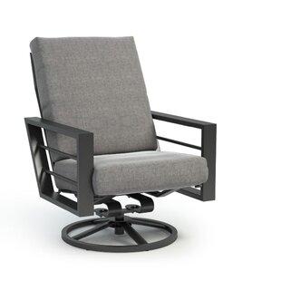Niles High Back Rocker Chat Swivel Patio Chair with Sunbrella Cushions by Brayden Studio