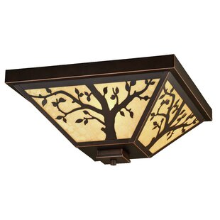 Baynham Outdoor 3-Light Flush Mount by Winston Porter