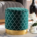 Mielke 16.93 Round Geometric with Storage Ottoman by Everly Quinn