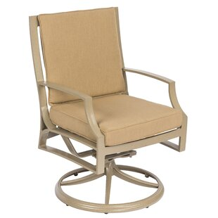 Seal Cove Swivel Patio Dining Chair with Cushion by Woodard