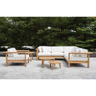Maro 3 Piece Teak Sunbrella Sectional Set with Cushions