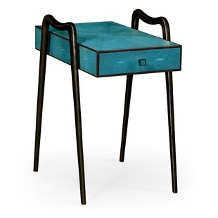 Legged End Table with Storage by Jonathan Charles Fine Furniture