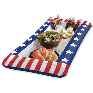 Patriotic Stars and Stripes Inflatable Cooler