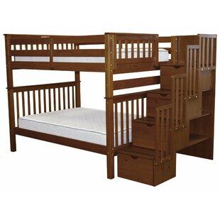 Buy luxury Tena Full over Full Bunk Bed with Storage ByHarriet Bee