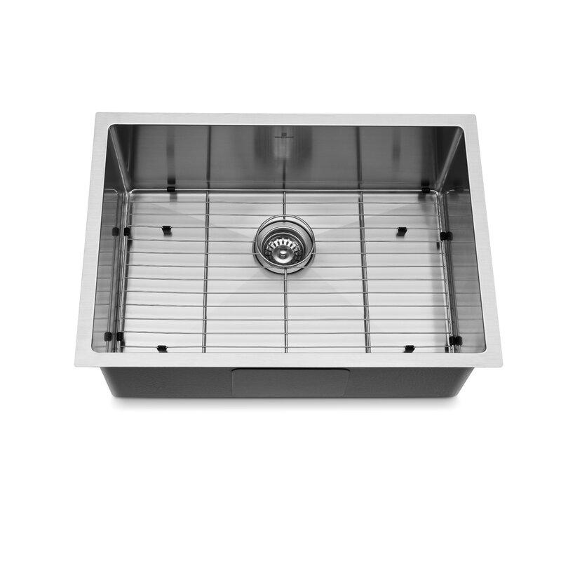 Koo Decor 27 L X 19 W Undermount Kitchen Sink With Basket Strain Wayfair