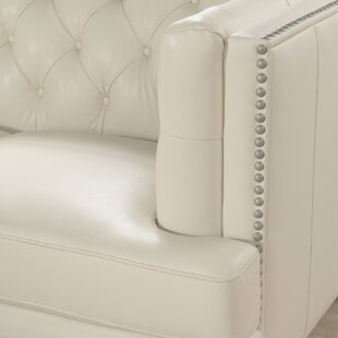 Price comparison Crewellwalk Leather Chesterfield Loveseat by Rosdorf Park Reviews (2019) & Buyer's Guide