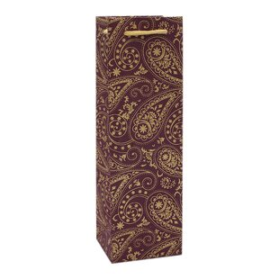 Handmade Paisley Single Wine Carrier